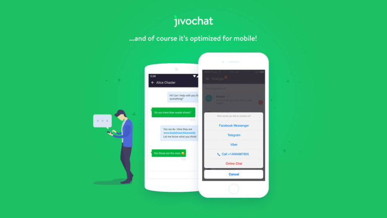 Web design agency offering Jivochat