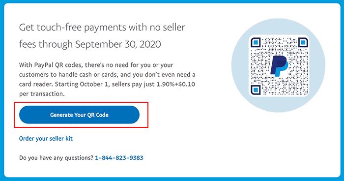 Generate PayPal QR Code