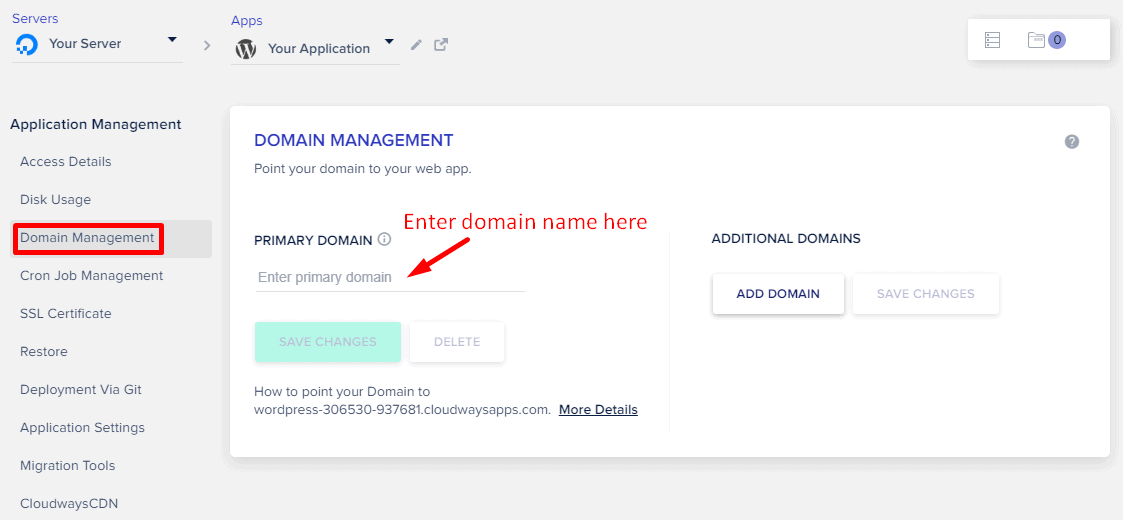 Cloudways Domain Mapping
